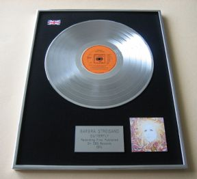 BARBRA STREISAND - BUTTERFLY PLATINUM LP PRESENTATION Disc